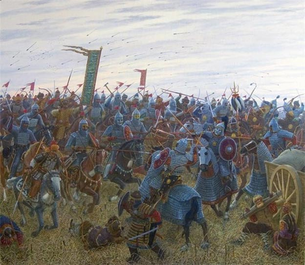 Battle of Kernek was between Volga Bulgaria and the Mongols, 1223.