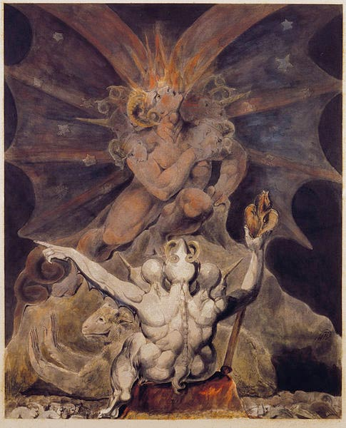 """The Number of the Beast is 666"", by William Blake, 1805."