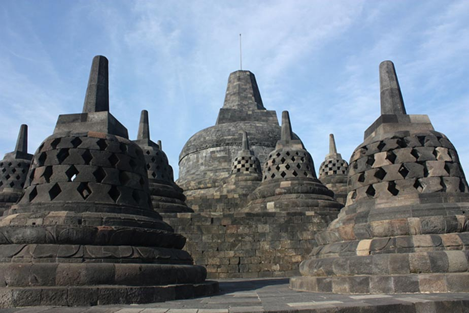 Borobudur, one of the monuments constructed during Medang Mataram kKngdom.