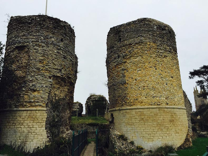 The ruins of Bungay Castle, which was the stronghold of the Bigods for 250 years.