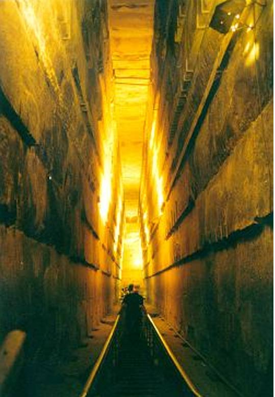 The Grand Gallery of the Great Pyramid of Giza.