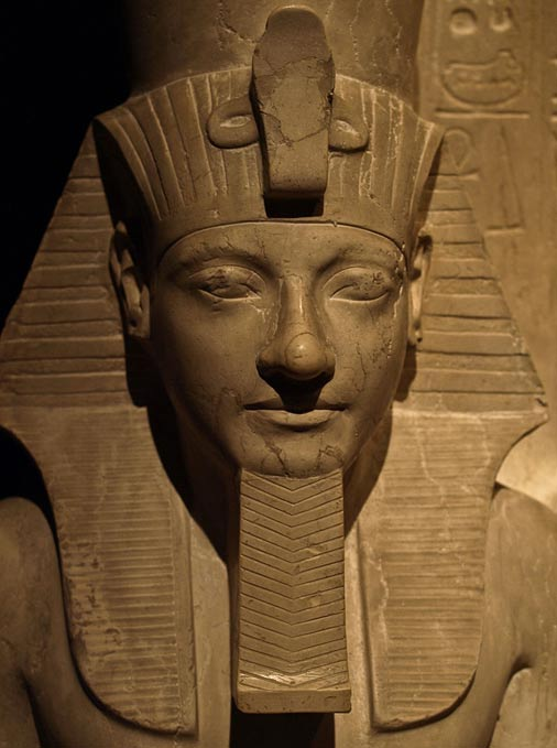 Detail of a statue of Horemheb