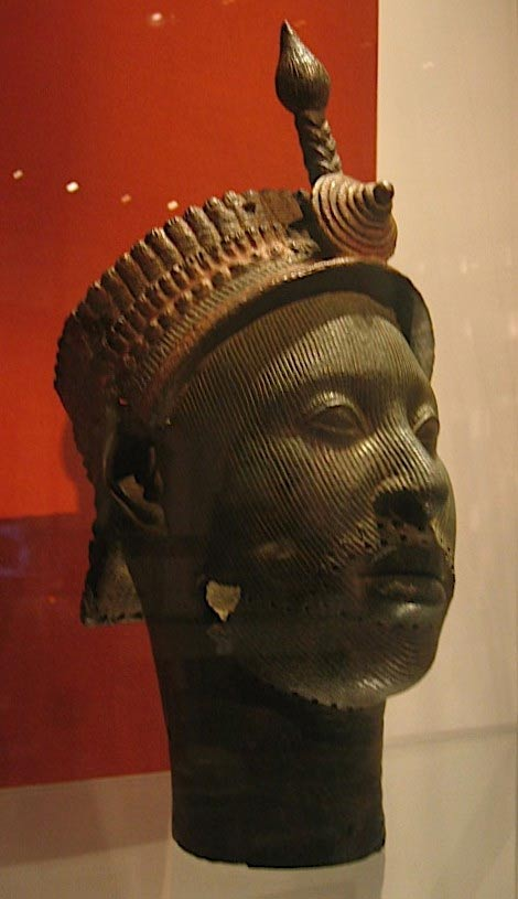 Ife kings head in British Museum.