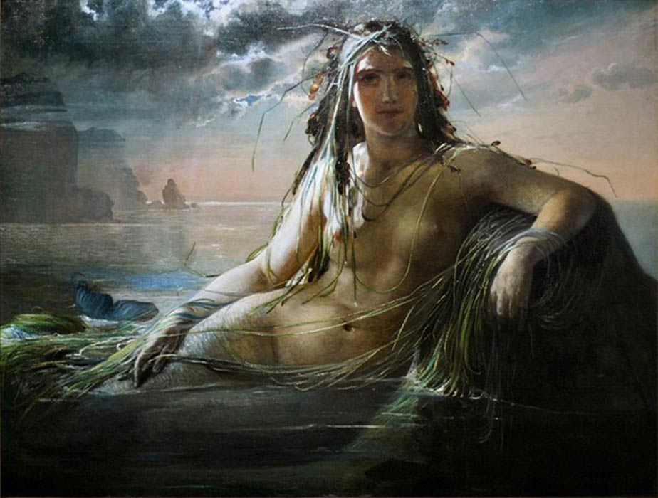 Mermaids in ancient mythologies are women with the lower body of a fish.
