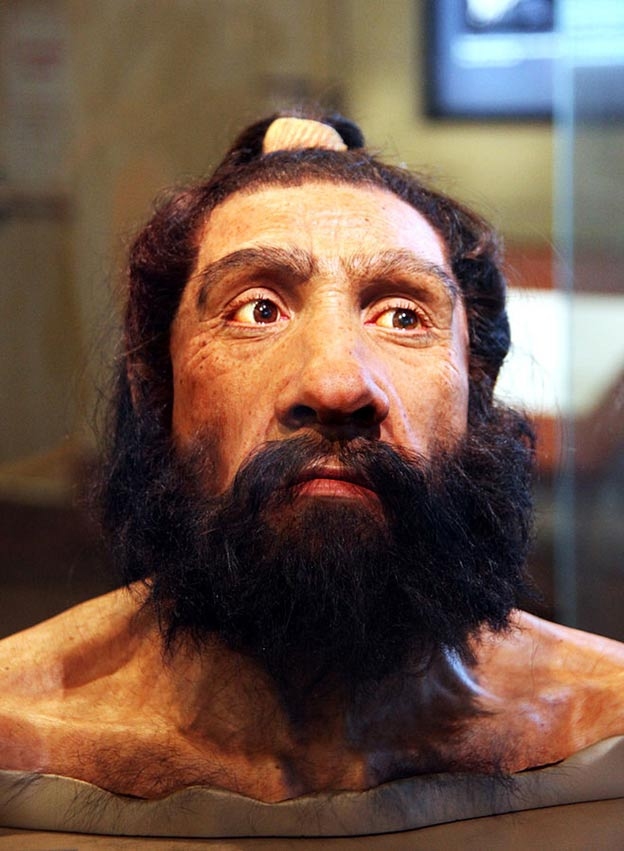 Reconstruction of Neanderthal head, Smithsonian Museum of Natural History, Washington.