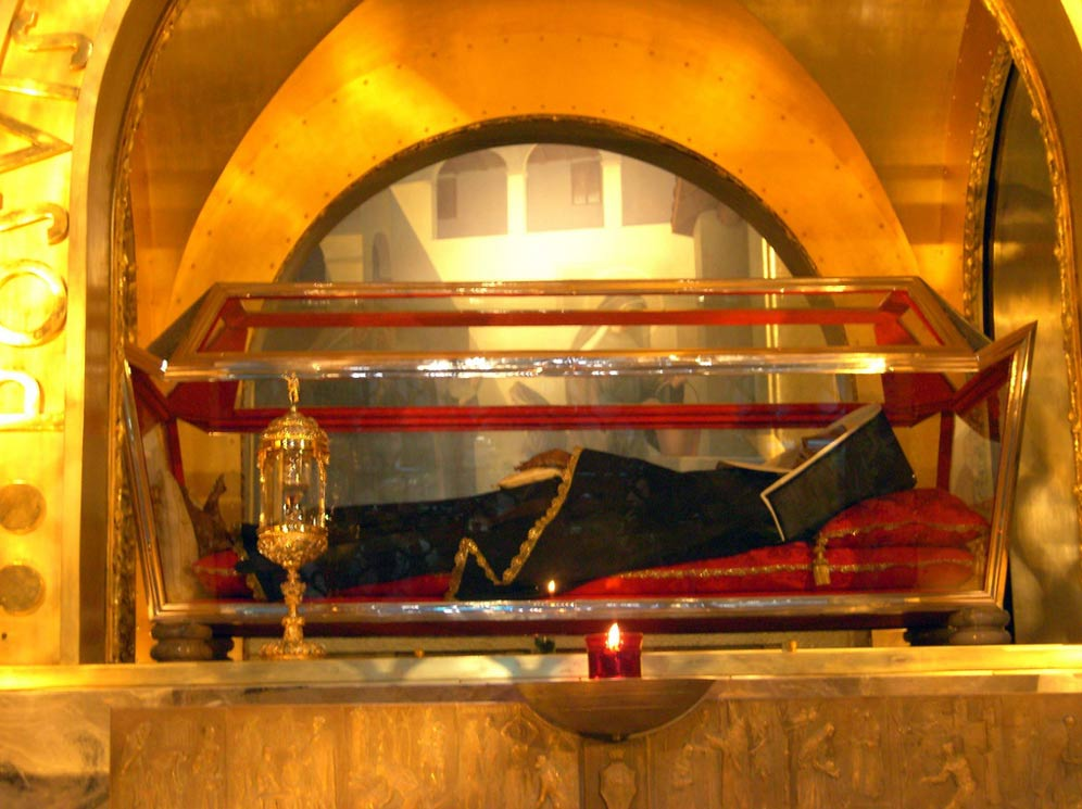 The body of Saint Rita of Cascia, found to be incorrupt by the Catholic Church.