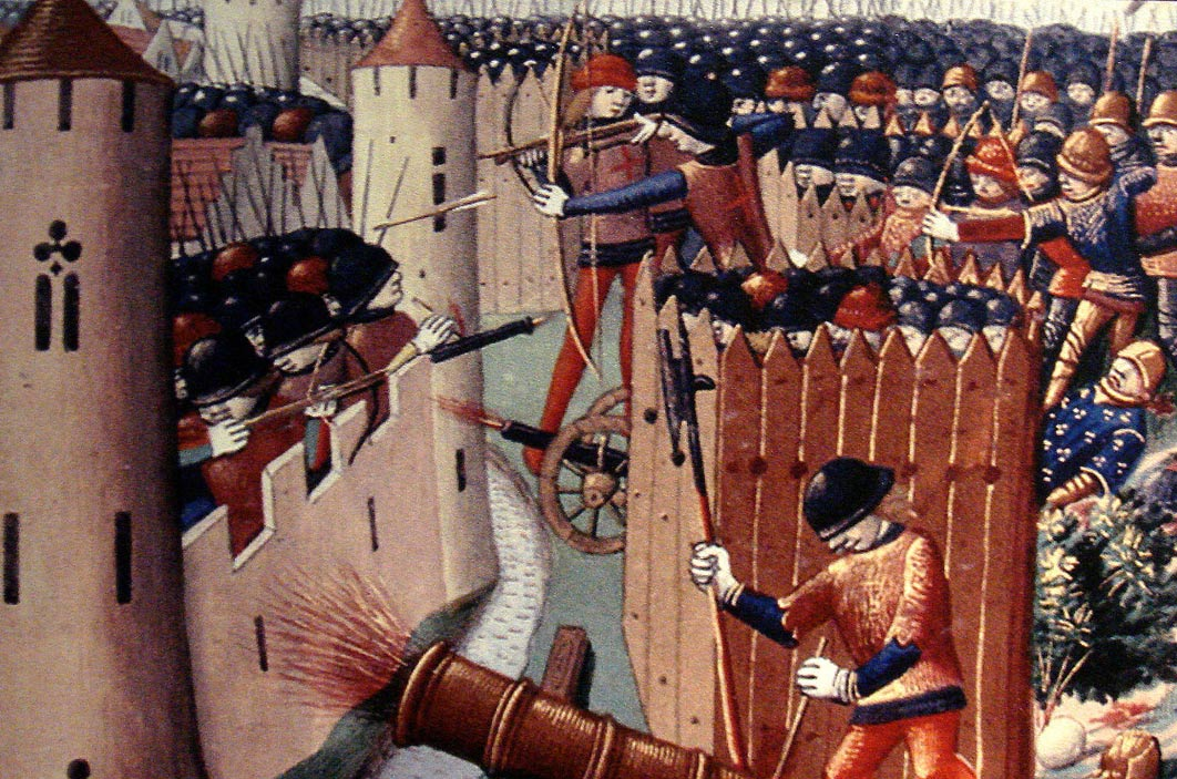 A depiction of the Siege of Orléans, 1429.