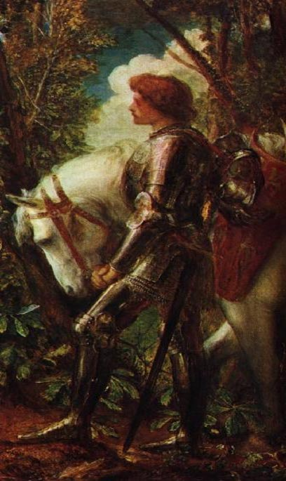 Sir Galahad as depicted by George Frederick Watts (1817–1904).