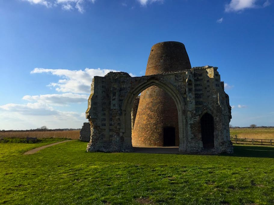 The ruins of St Benet's Abbey.