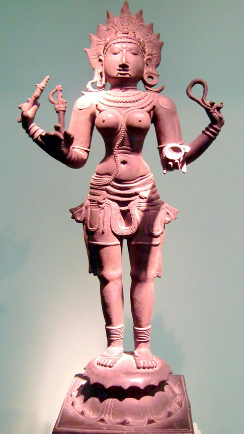 A Tamil depiction of Kali, Hindu Goddess. 12th century, Bronze.