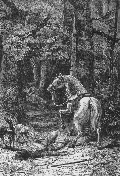 Another depiction of the death of William Rufus of England, 1895.