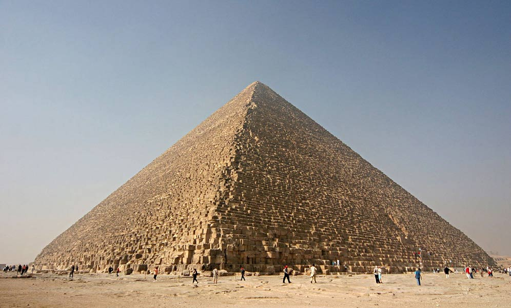 The enigmatic Great Pyramid, attributed to Pharaoh Khufu.