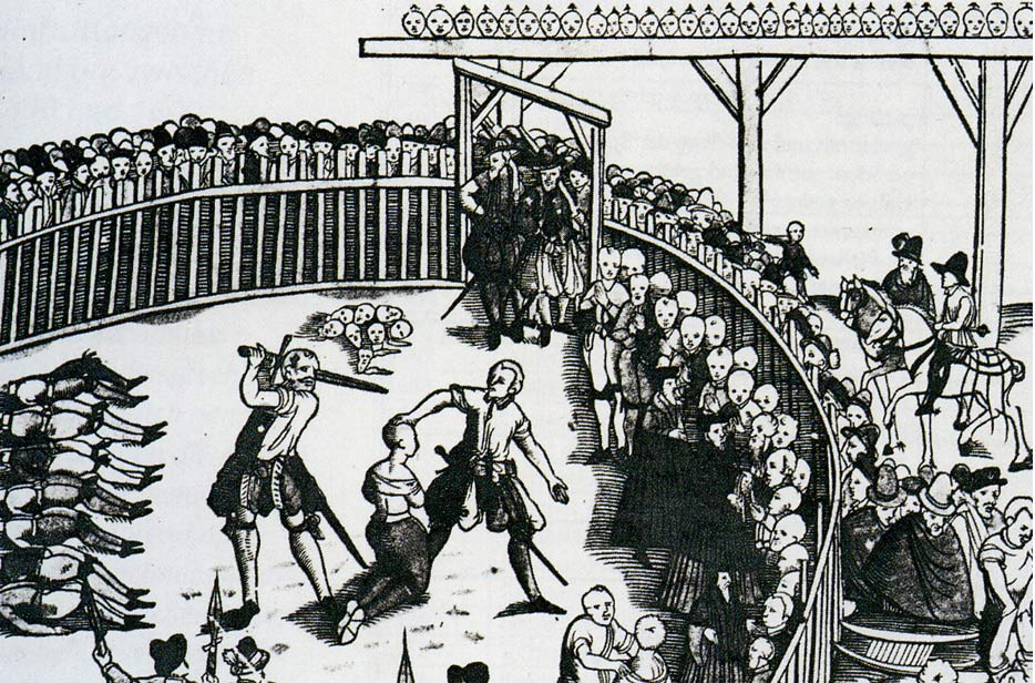 The execution of Pirates in Hamburg in 1573. Executions were a handy source of human fat.