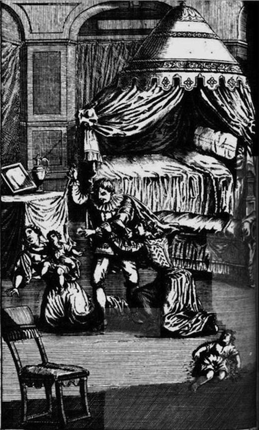 Illustration depicting the murders by Walter Calverley.