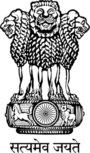 The national emblem of India is derived from the time of the Emperor Ashoka. The emblem is a replica of the Lion of Sarnath, near Varanasi in Uttar Pradesh. The four lions symbolize power, courage and confidence, and they rest on a circular abacus. Beneath is written 'Satyameva Jayate'.