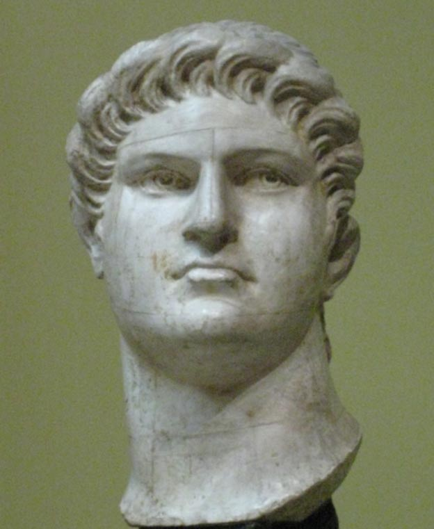 A plaster bust of Nero.