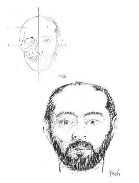 "The sketched portrait of Manuel Blanco Romasanta, a real life ""Fat Extractor""."