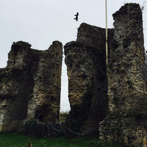 The ruins of Bungay Castle.